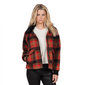 Volcom Chickity Check It Jacket - Women's  Bear Brown Lg