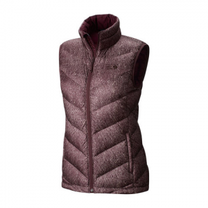 Mountain Hardwear Ratio Printed Down Vest - Women's Purple Plum