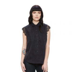 Obey Heart Noir Shirt - Women's Black