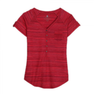 Kuhl Bella S/S Tee - Women's Watermelon Stripe