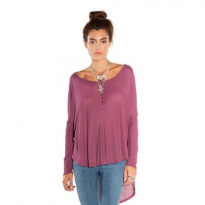 Amuse Society Riley Knit Top - Women's Deep Orchid