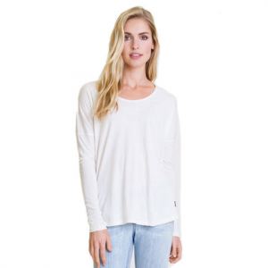 RVCA Once Again Long Sleeve Top - Women's Vintage White