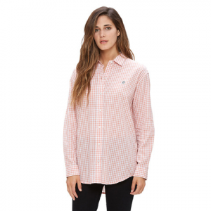 Obey 89 Check Button-Down Shirt - Women's  Rose Multi