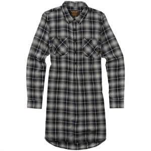 Burton Grace Flannel Tunic - Women's True Black Haze Pld S