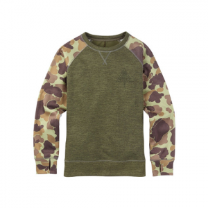 Burton Quartz Crew - Women's Dusty Olive Heather M