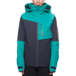 686 Solstice Thermagraph Jacket - Women's Teal Color Block