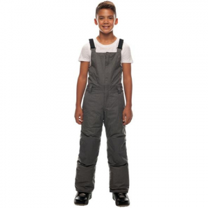 Image of 686 Boy's Cornice Insulated Bib - Kid's Charcoal Melange Lg