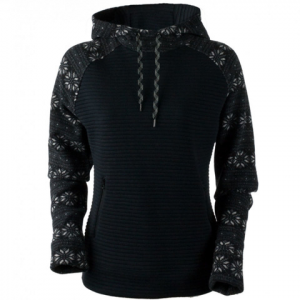 Obermeyer Gracey Hooded Fleece - Women's Black Snowflake