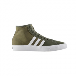 Image of Adidas Matchcourt High RX Shoes Olicar/ftwwht/basgrn 12.0