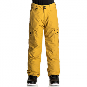 Quiksilver Porter Snow Pant - Youth Mustard Gold 12