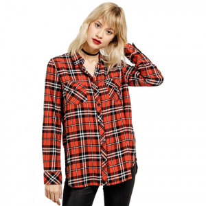 Volcom Fly High Long Sleeve Flannel - Women's Rust