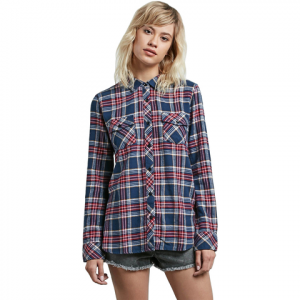 Volcom Street Dreaming Flannel - Women's Midnight Green