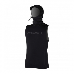 O'Neill Thermo X Vest with Neo Hood Black Md