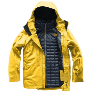 The North Face ThermoBall Snow Triclimate Jacket Leopard Yellow Md