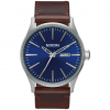 Nixon Sentry Leather Blue/brown One Size