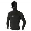 Xcel Polypro Hooded L/S Thermal Rashguard Blk Sm