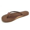 Rainbow Hemp Single Layer Narrow Strap Eco Sandal - Women's Brown