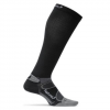Feetures Elite Compression Knee High Socks Black/silver Lg