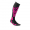 CEP Ski Compression Socks - Womens Black/pink Iv/lg