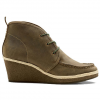 Olkai Wali Wedge Leather Black Olive/silt 6.5