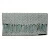 Krochet Kids Rose Knit Clutch Seafoam Os