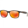 Ray Ban Andy Sunglasses Matte Brown/brown Gradient 55