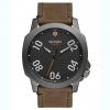 Nixon Ranger 45 Leather Watch  Gunmetal / Surplus Os