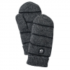 Hestra Striped Wool Mitt Charcoal/blk 8