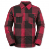 Volcom Boys Bison Insulated Flannel - Kids Red Lg