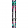 Salomon Q-Lux Jr + EZY7 Skis - Junior's Black Red Green Xs - 90cm