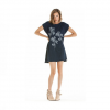 Obey Abstract Tulip Dress - Women's Dark Rinse Lg