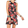 Element Polka Dress - Women's Blk Lg