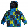 Quiksilver Mission Jacket - Kids Oly Blue/plaid Os