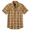 Prana Benson Slim S/S Shirt Yellow Md