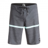 "Quiksilver Stripe Scallop 20"" Boardshorts - Men's Black 38"