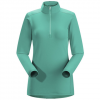 Arc'teryx Phase SV Zip Neck L/S - Womens Patina Teal Sm