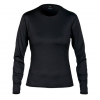 Hot Chillys Micro Elite Chamois 8K Crewneck Shirt - Womens Black Lg