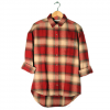 Obey Garnet Peak Button Down - Women's Red Multi Md