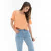 Obey Essex Woven Tee - Womens Orange Lg