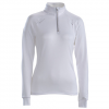 Descente Kate T-Neck Zip Top - Women's Super White 8