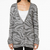 Vans Cheeter Fleece Cardigan - Women Gray Heather Sm