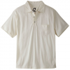Mountain Khaki Patio Polo Shirt Linen Lg
