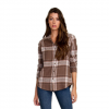 RVCA Jig 4 Flannel Long Sleeve Shirt - Women's Vintage White Lg