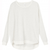 RVCA Label Dolman Pullover - Women's Vintage White Md