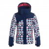 Roxy Girls Flicker Snow Jacket - Kid's Blue Print 16/xxl