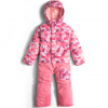 The North Face Toddler Insulated Jumpsuit Cabaret Pink Block Print 2t