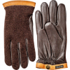 Hestra Deerskin Wool Tricot Charcoal/nat Yellow 9