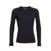 Icebreaker BodyfitZONE Zone Long Sleeve Crewe Black/monsoon Lg