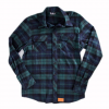 Black Strap Tall Flannel  Navy Forest Xl