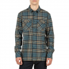 Volcom Jasper L/S Flannel Shirt Airforce Blue Lg